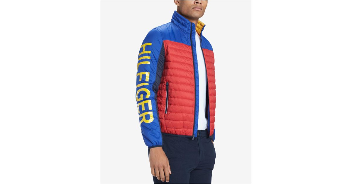 760674ba Tommy Hilfiger Big & Tall Wilshire Colorblocked Insulator Jacket in Blue  for Men - Lyst