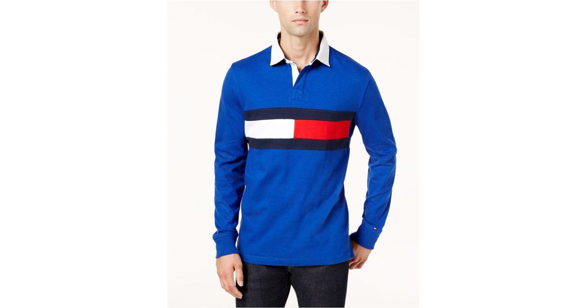 9c573621 Tommy Hilfiger Men's Jim Rugby Shirt in Blue for Men - Lyst