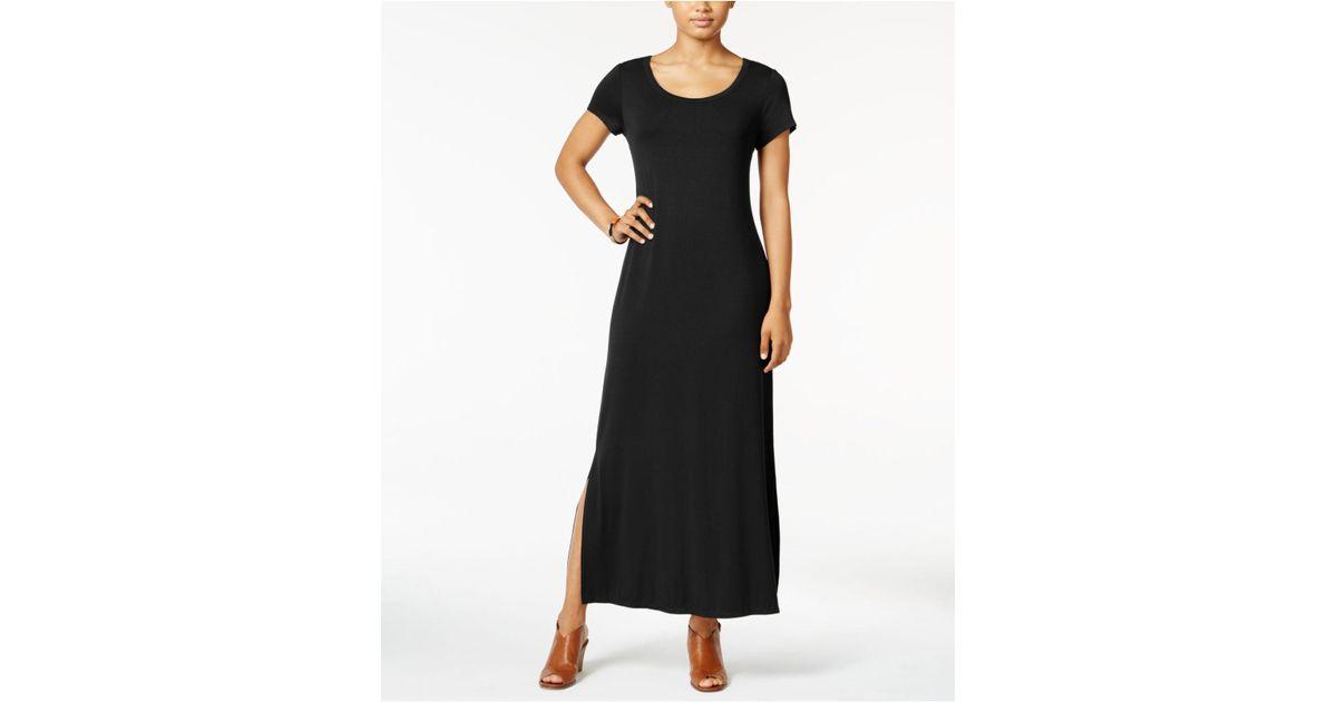 dfe07f43893 Lyst - Style   Co. Petite Scoop-neck Maxi Dress in Black