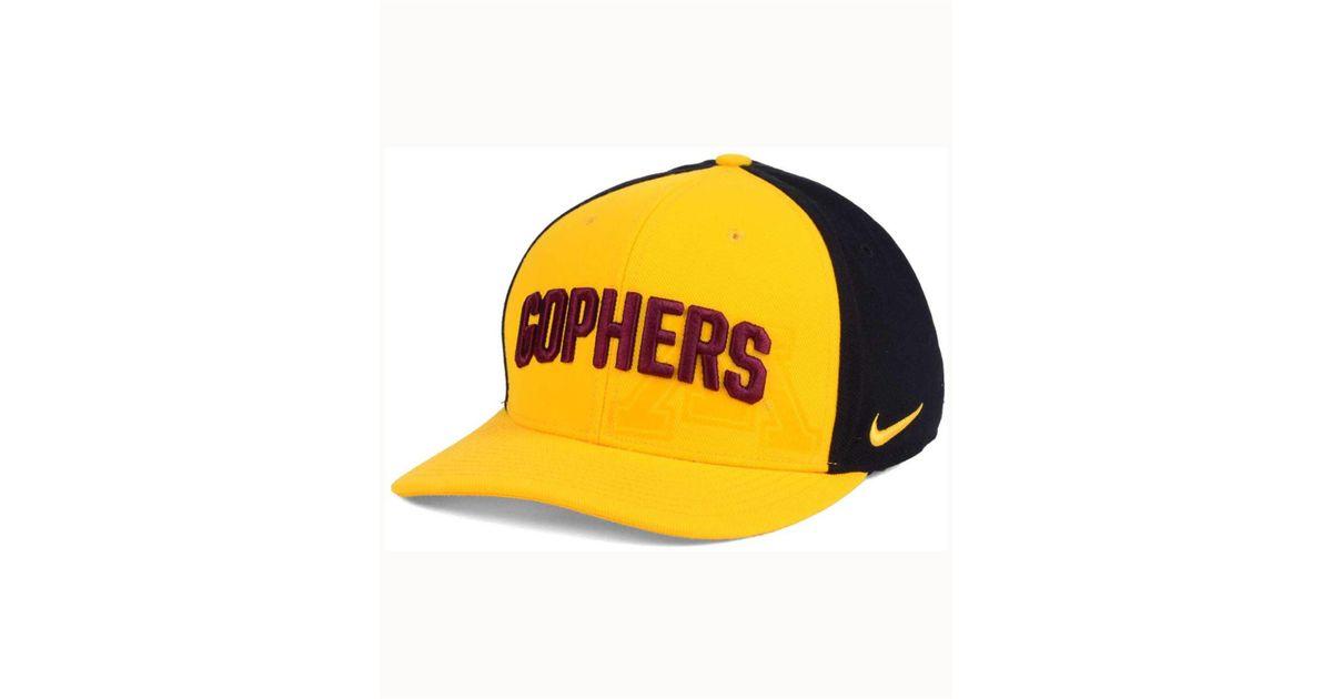 76bbc22c Lyst - Nike Minnesota Golden Gophers Classic 99 Swoosh Flex Cap in Yellow  for Men