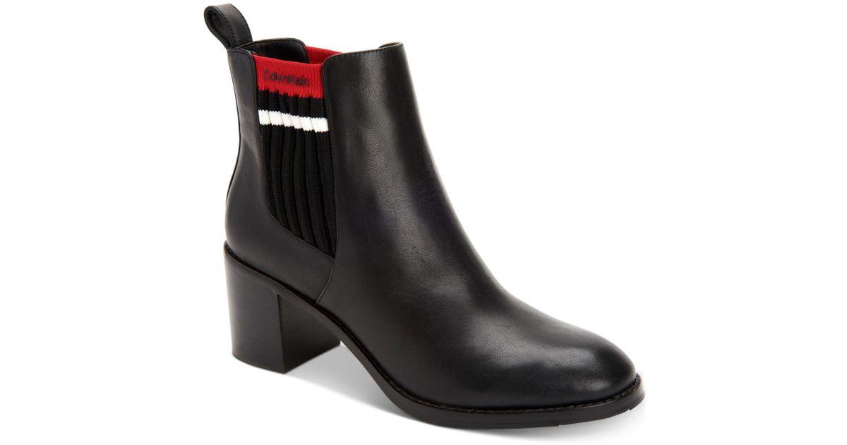 80d7f18c90a Lyst - Calvin Klein Perron Booties in Black