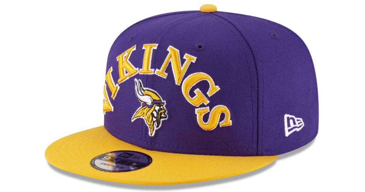 Lyst - KTZ Minnesota Vikings Retro Logo 9fifty Snapback Cap in Purple for  Men ba9d6147e