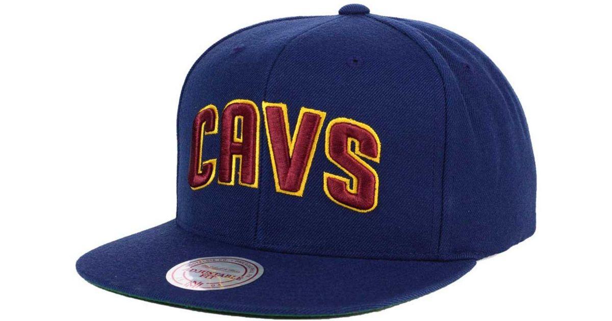 07634f5b7cd Lyst - Mitchell   Ness Nba Xl Logo Snapback Cap in Blue for Men