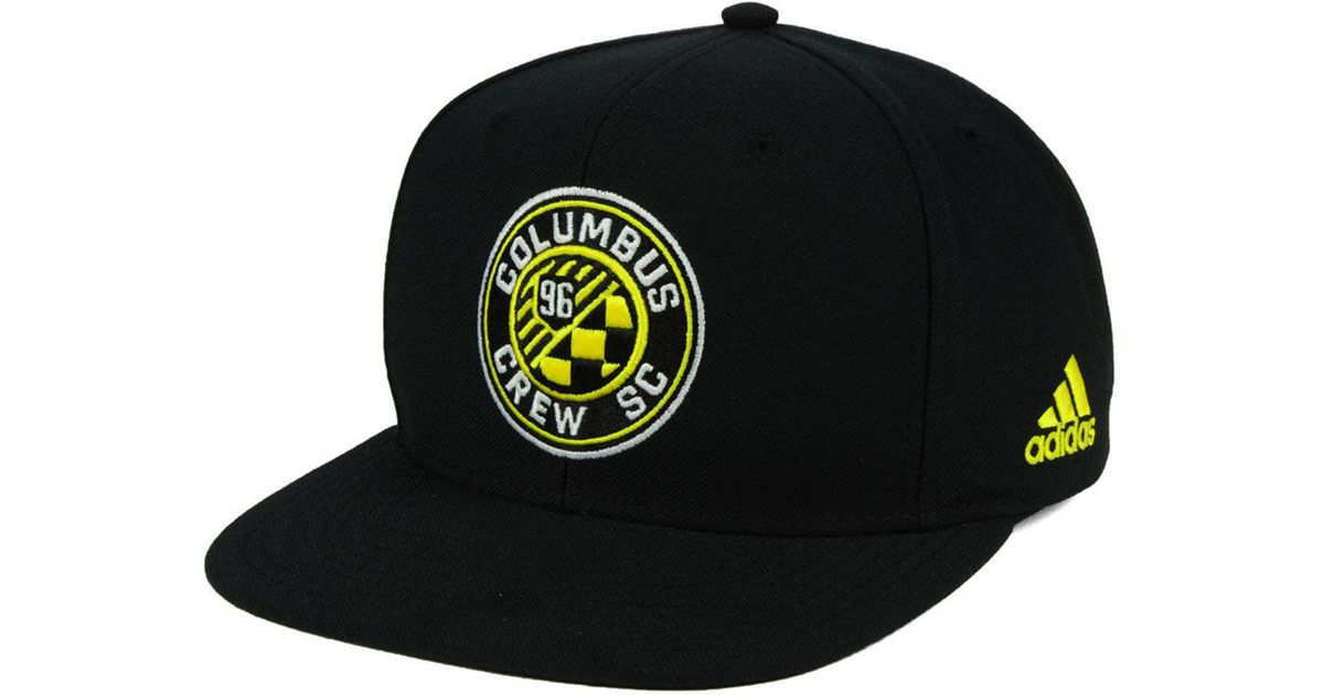 new style 4b51b f8424 adidas Columbus Crew Sc Poly Snapback Cap in Black for Men - Save 48% - Lyst