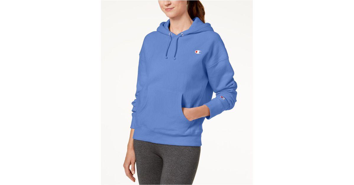 5d42976241d7 Lyst - Champion Reverse-weave Fleece Hoodie in Blue