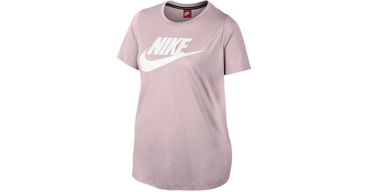 ce69cdaed65 Lyst - Nike Plus Size Futura T-shirt in Pink