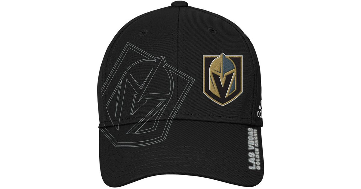 ed83fc48dd497 adidas Vegas Golden Knights 2nd Season Flex Cap in Black for Men - Lyst