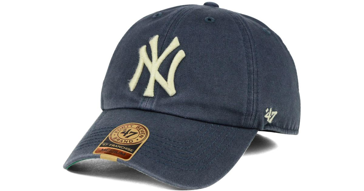 1a338fcbc32cb6 47 Brand New York Yankees Vintage Franchise Cap in White for Men - Lyst