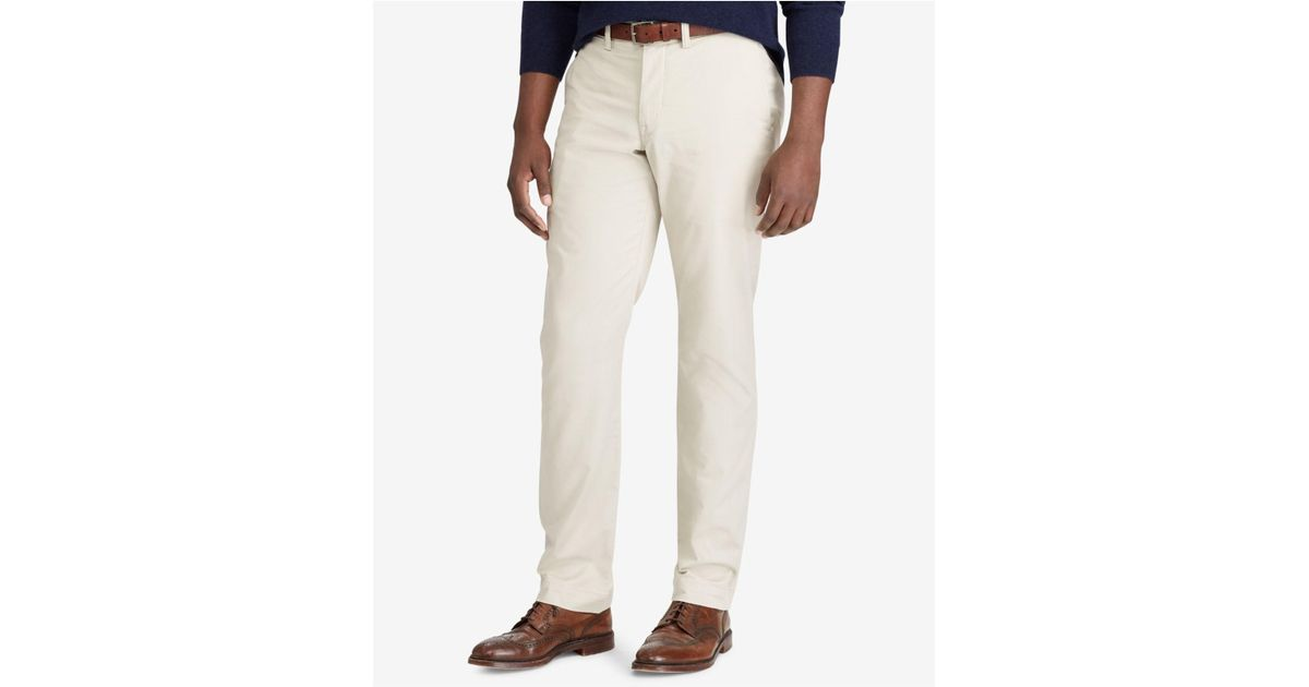 4487bb0e4c7 Lyst - Polo Ralph Lauren Men s Big   Tall Classic-fit Stretch Chino Pants  in Natural for Men - Save 26%