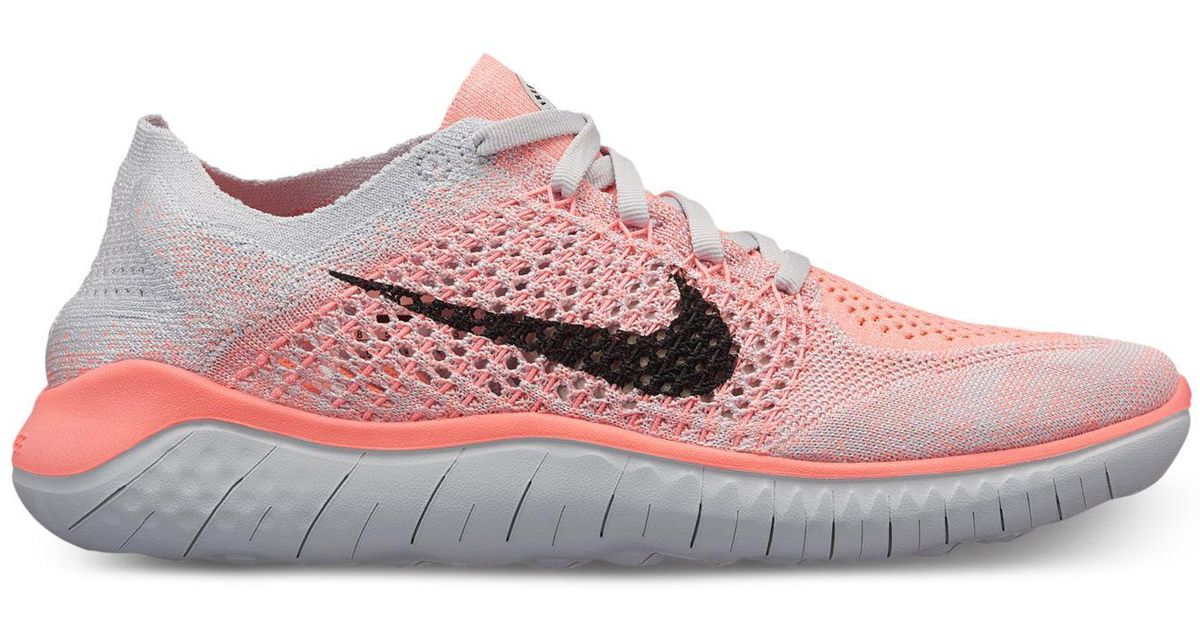8f2f570adf4 Lyst - Nike Free Run Flyknit 2018 Running Sneakers From Finish Line