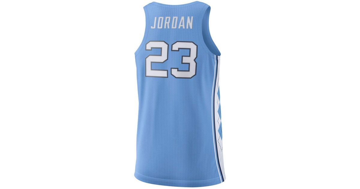 ff66b906cf9e Lyst - Nike Michael Jordan North Carolina Tar Heels Authentic Basketball  Jersey in Blue for Men