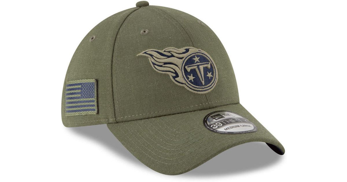5f50292f3f8 Lyst - KTZ Tennessee Titans Salute To Service 39thirty Cap in Green for Men