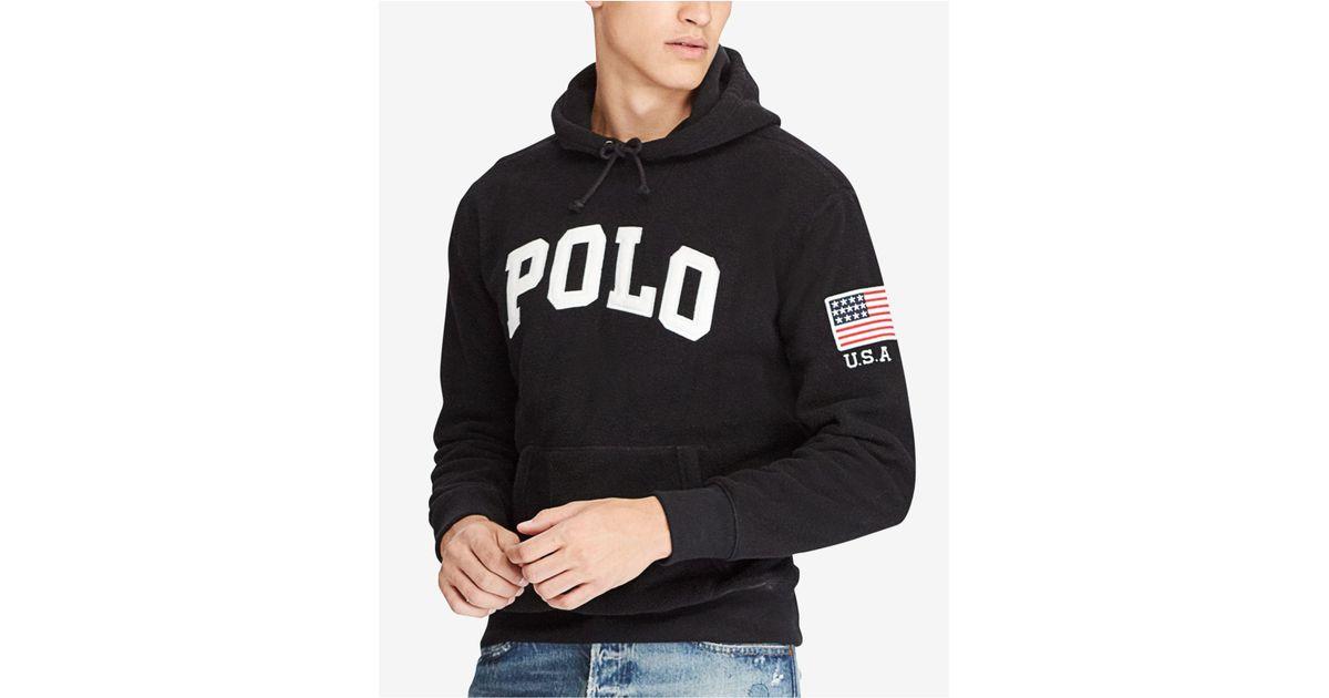 Lyst - Polo Ralph Lauren Men\u0027s Graphic-print Fleece Hoodie in Black for Men
