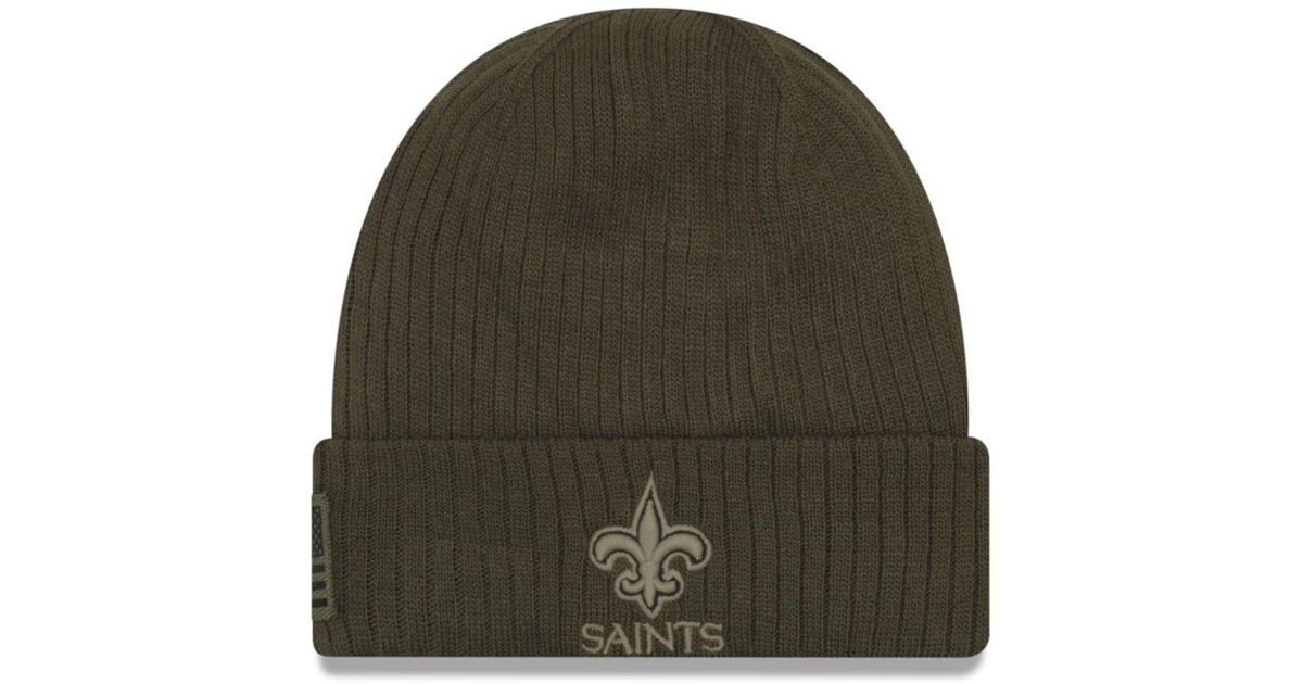848396b0f KTZ New Orleans Saints Salute To Service Cuff Knit Hat in Green for Men -  Lyst