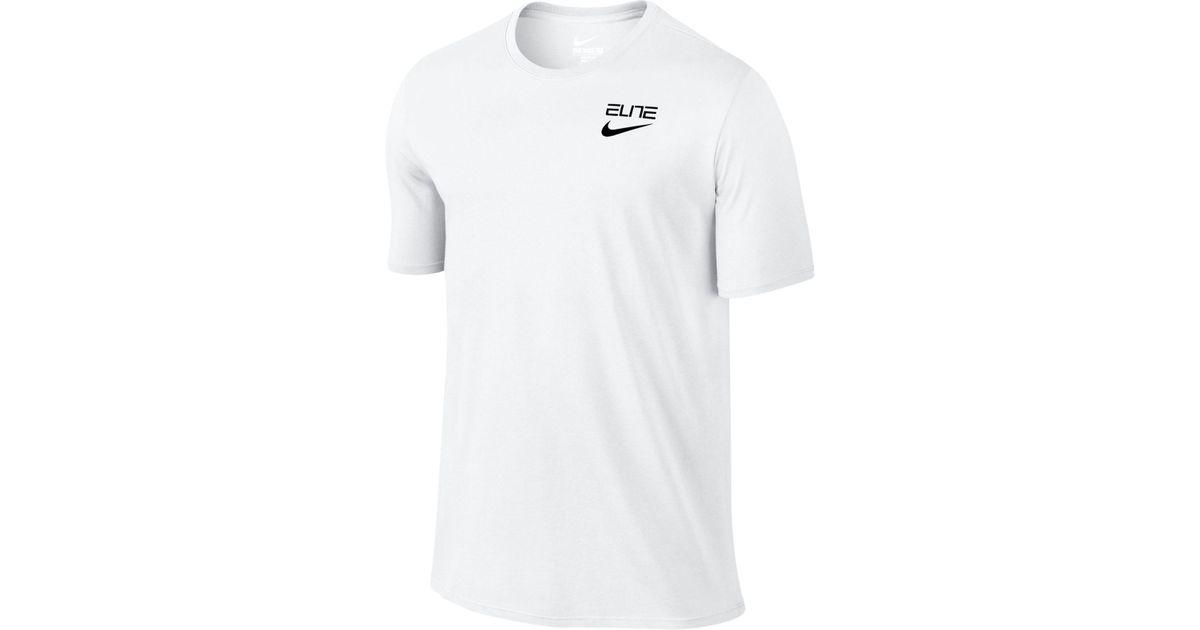 41b8063a67ef Lyst - Nike Men s Elite Back-stripe Dri-fit T-shirt in White for Men