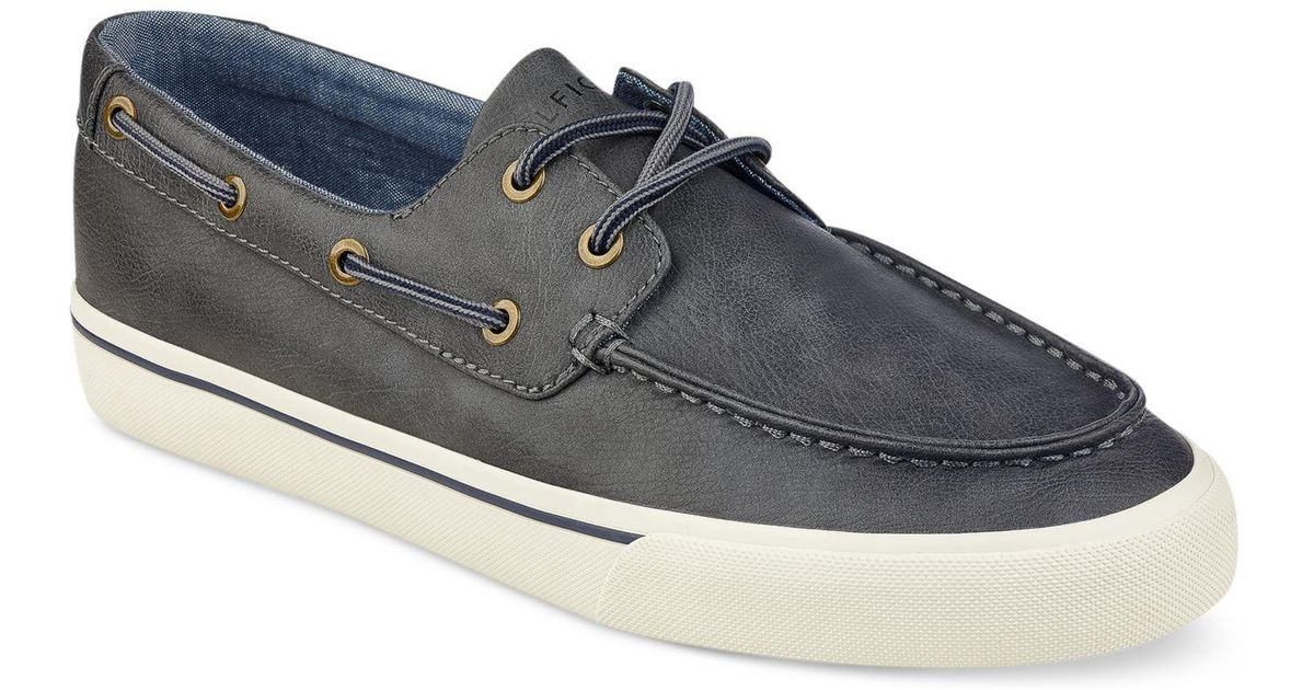 afb2b696bc09e0 Lyst - Tommy Hilfiger Men s Pharis 2 Boat Shoes in Gray for Men