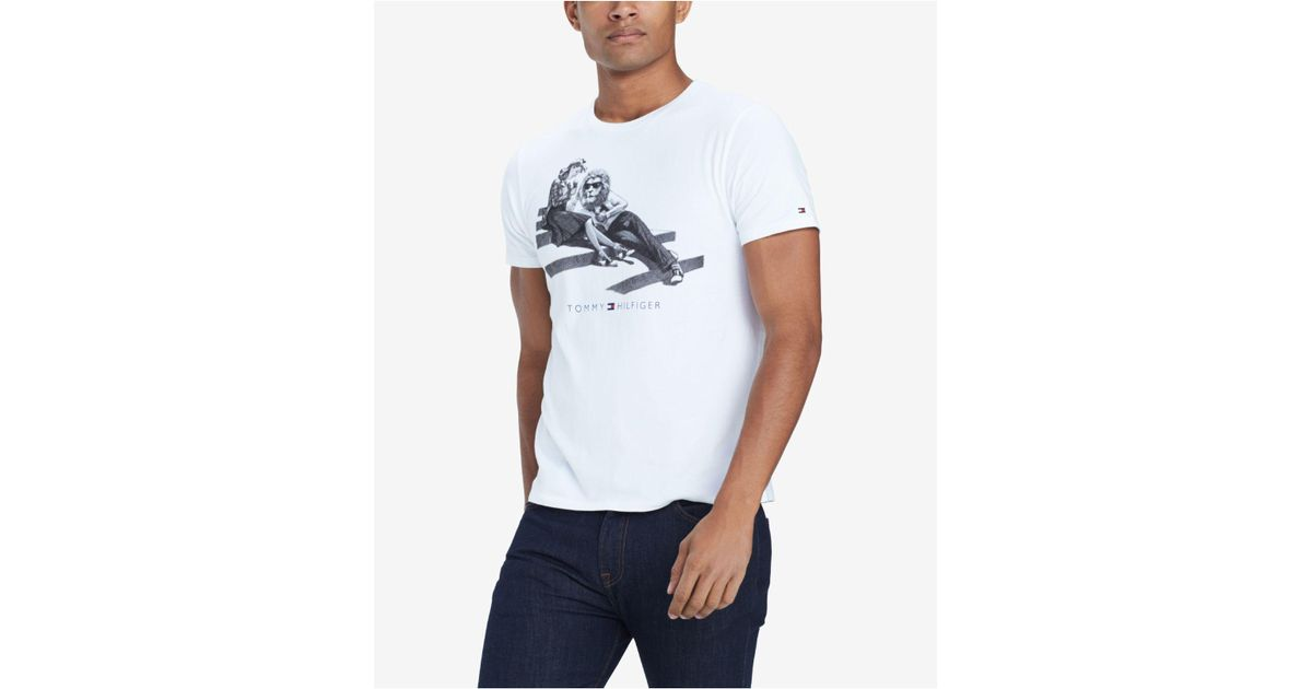 14a1a10b197261 Lyst - Tommy Hilfiger Loungin  Lion Graphic T-shirt