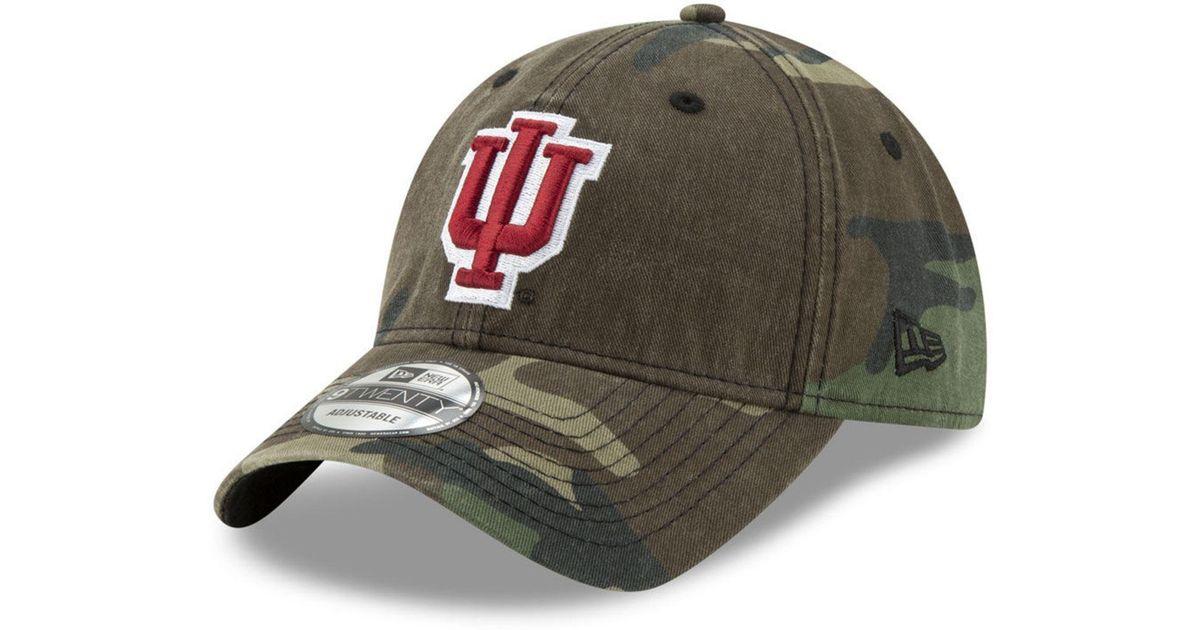 online store aed75 5bf96 Lyst - KTZ Indiana Hoosiers Woodland Classic Twill 9twenty Strapback Cap in  Green for Men