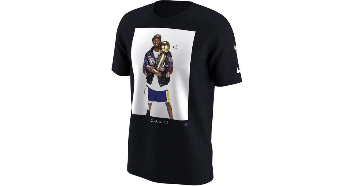 san francisco 9062c d50c1 Nike Kobe Bryant Los Angeles Lakers Kobe Championship Photo T-shirt in  Black for Men - Lyst