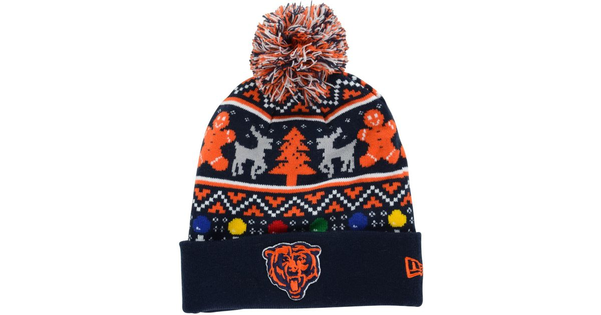 Lyst - KTZ Chicago Bears Christmas Sweater Pom Knit Hat for Men af288a711470