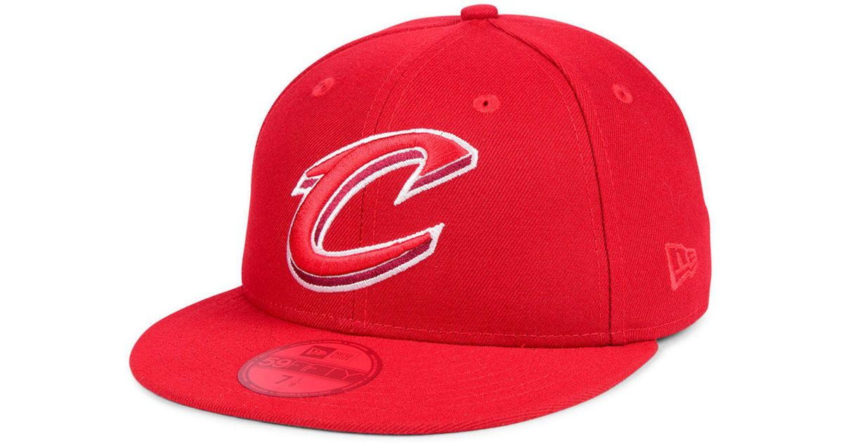 the latest 36810 db42f Lyst - KTZ Cleveland Cavaliers Color Prism Pack 59fifty Fitted Cap in Red  for Men