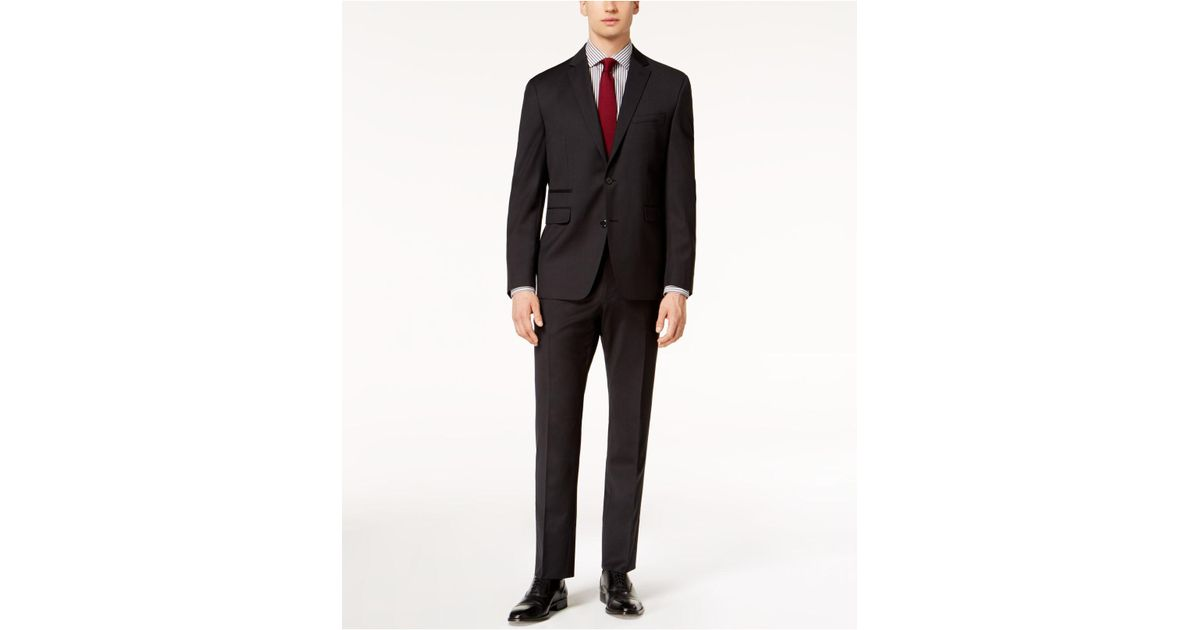ef2f1a6cb0 Vince Camuto Coolmax Slim-fit Stretch Black Check Suit in Black for Men -  Lyst