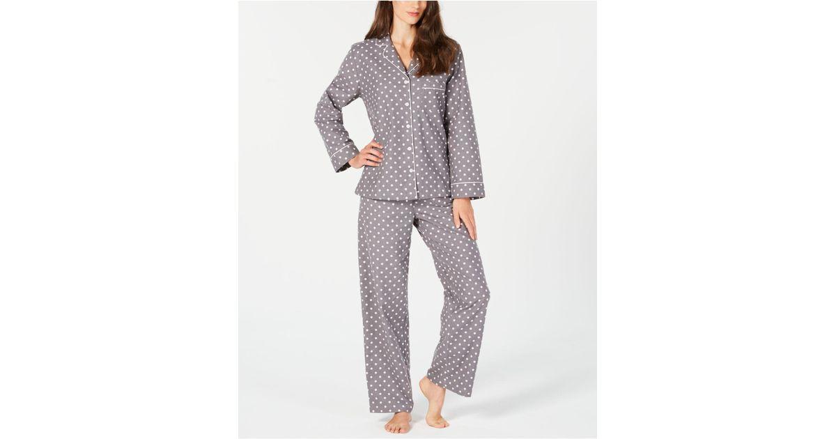 a11da45714 Lyst - Charter Club Petite Cotton Flannel Pajama Set