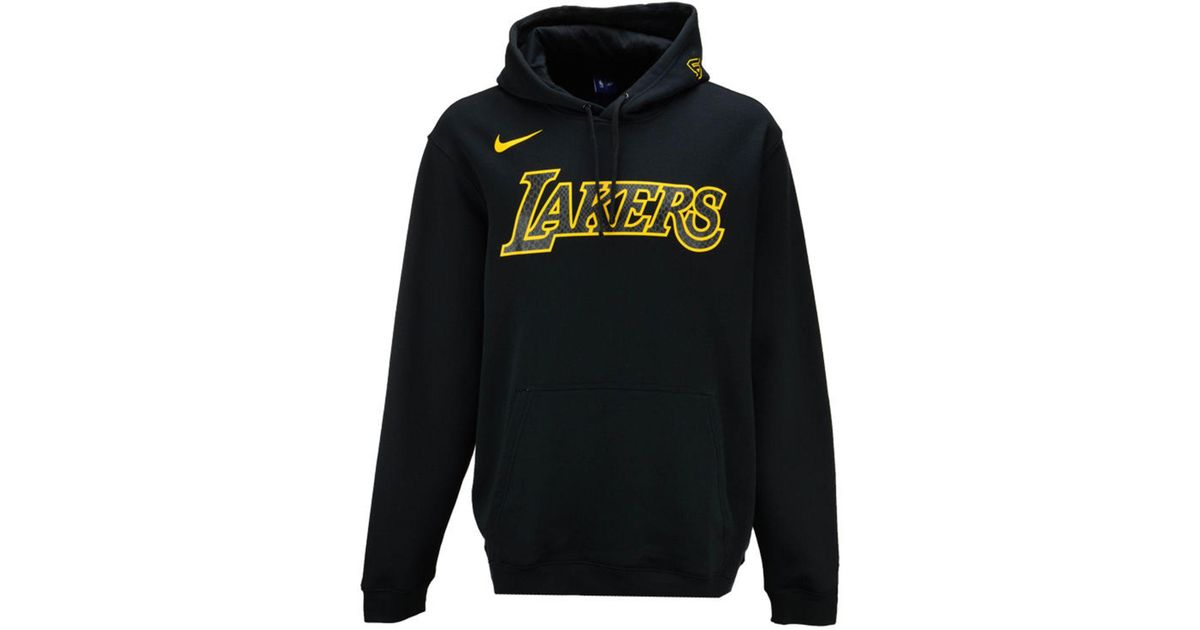 Lyst - Nike Los Angeles Lakers City Club Fleece Hoodie in Black for Men 161026e5c