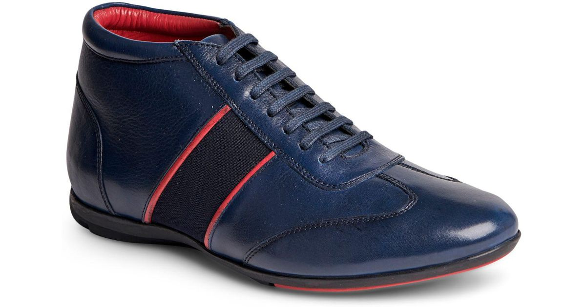 82e4ae486d68c Lyst - Carlos By Carlos Santana Fleetwood Mid-top Sneaker in Blue for Men