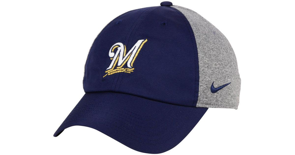 new york fcff9 05cc0 ... promo code for lyst nike milwaukee brewers new day legend cap in blue  for men 26c1c