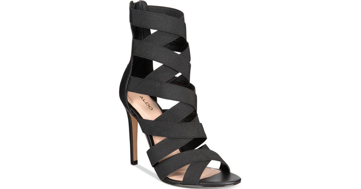 c43759cb169 Lyst - ALDO Ethebeth Crisscross Dress Sandals in Black