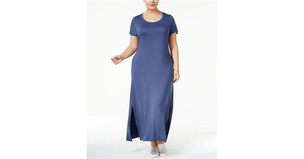53de1a423b7 Lyst - Style   Co. Plus Size T-shirt Maxi Dress