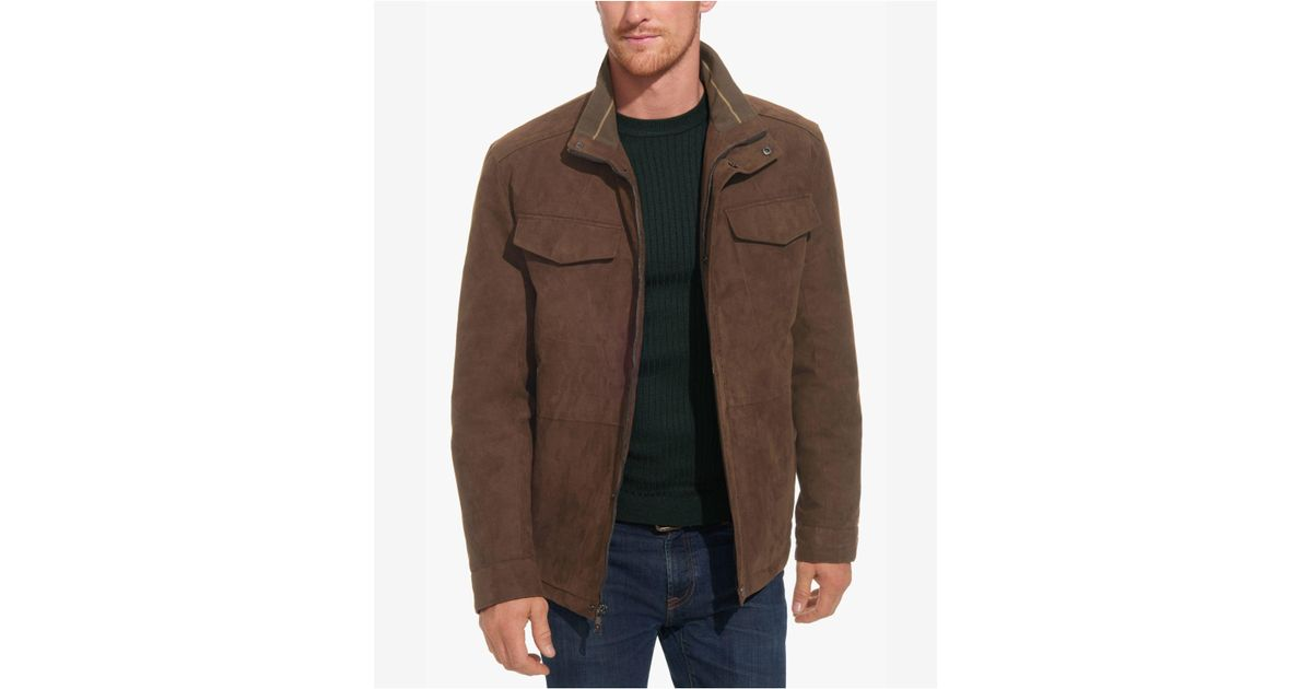 2c655eb9e Weatherproof Brown Faux-suede Field Military Jacket for men