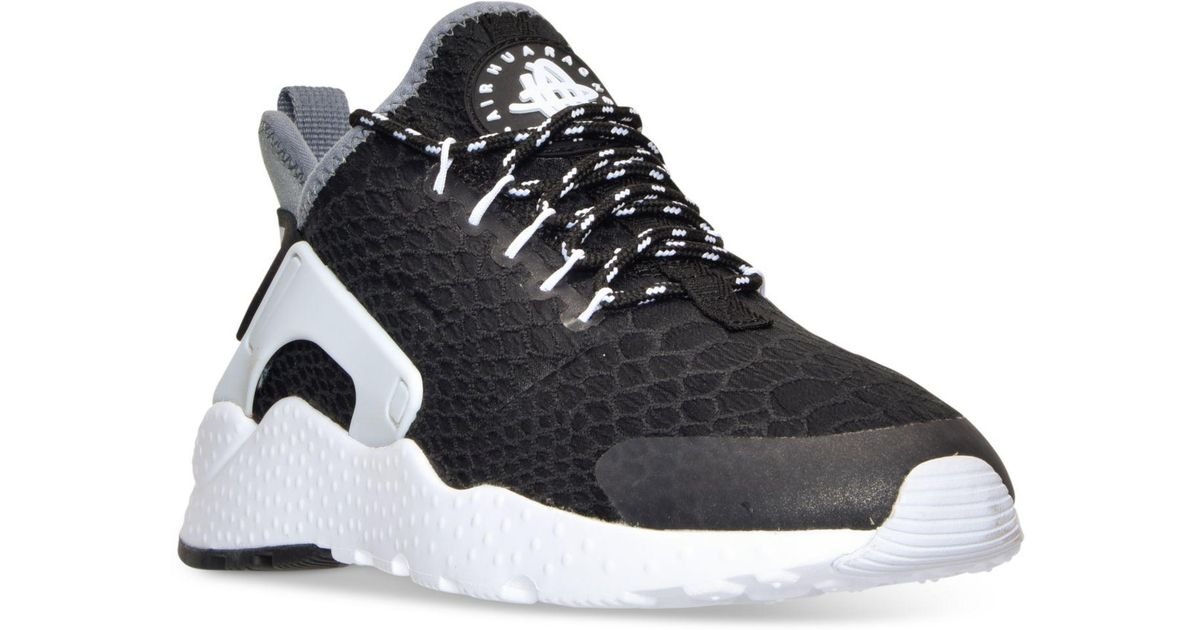 bfc8906d81d1 Lyst - Nike Women s Air Huarache Run Ultra Se Running Sneakers From Finish  Line in Black