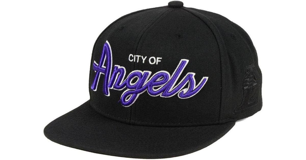 quality design db3d3 bf5fb ... ireland lyst mitchell ness los angeles lakers town snapback cap in black  for men e594b c4306