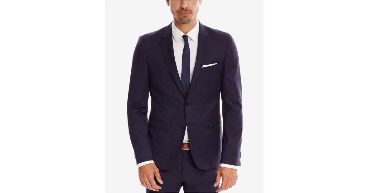79d72918 Lyst - BOSS Men's Extra-slim-fit Super 120 Italian Virgin Wool Sport Coat  in Blue for Men