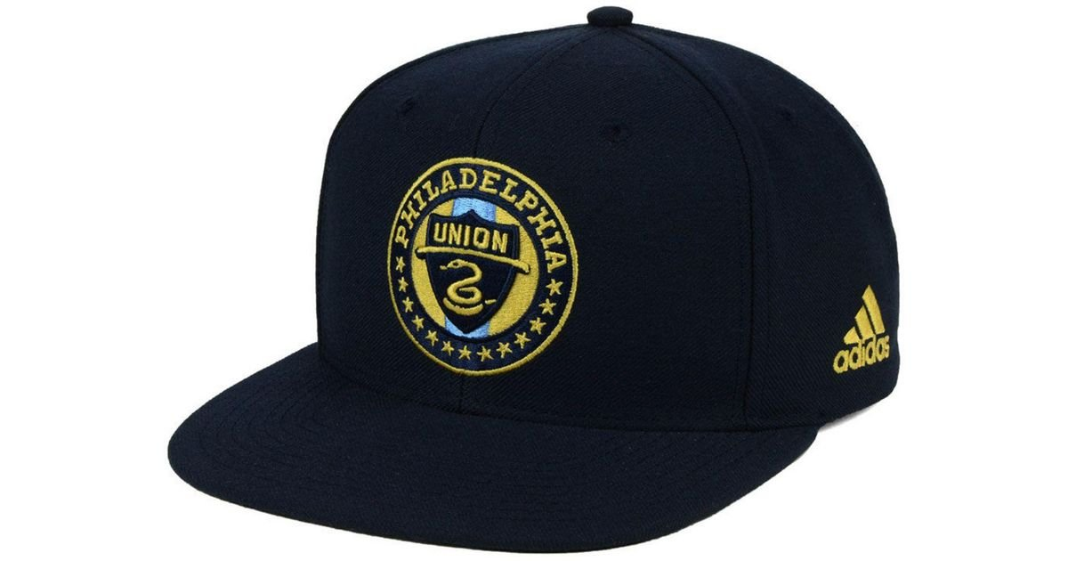 sports shoes 8fbe6 b2a2a Lyst - adidas Philadelphia Union Poly Snapback Cap in Blue for Men