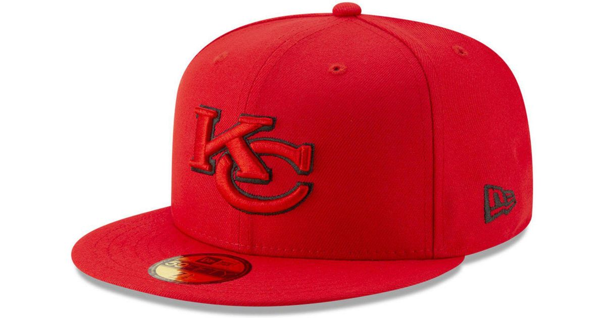 da718c727f7 Lyst - KTZ Kansas City Chiefs Logo Elements Collection 59fifty Fitted Cap  in Red