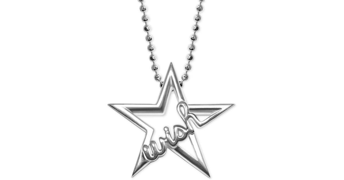 Lyst alex woo wish in sterling silver star pendant necklace in lyst alex woo wish in sterling silver star pendant necklace in metallic aloadofball Image collections