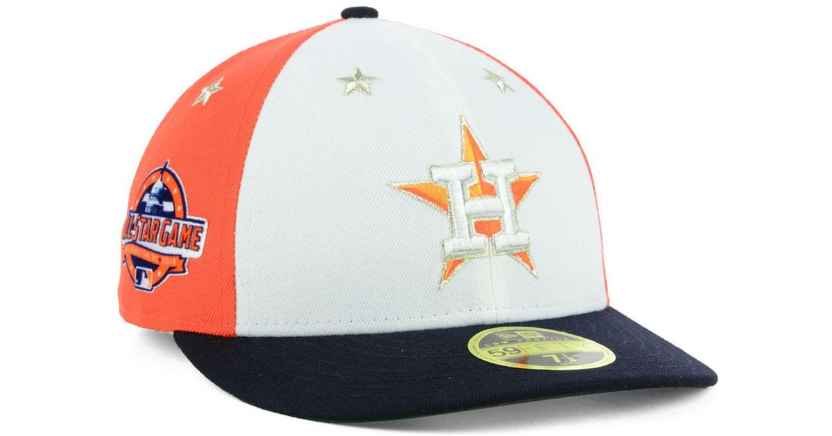 quality design f4fca 3ac2e ... closeout lyst ktz houston astros all star game patch low profile  59fifty fitted cap 2018 in