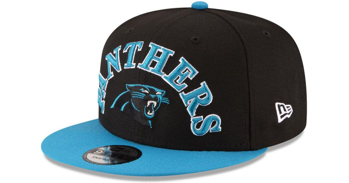detailed look e635d 9ce9e Lyst - KTZ Carolina Panthers Retro Logo 9fifty Snapback Cap in Black for Men