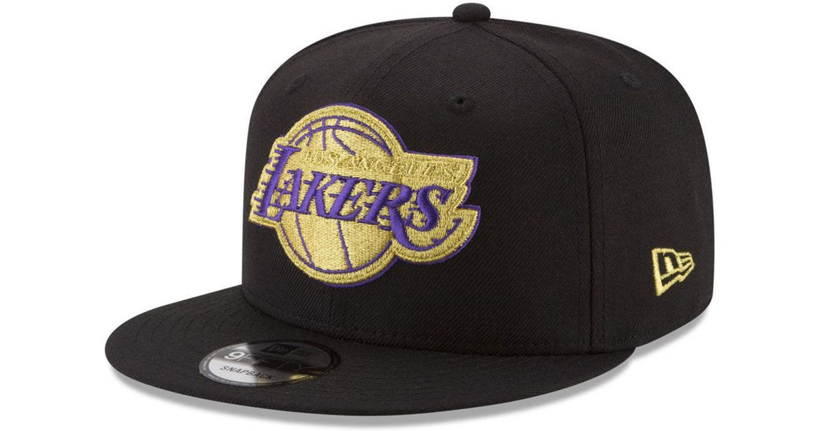 c51441a242946 Lyst - KTZ Los Angeles Lakers Gold On Team 9fifty Snapback Cap in Black for  Men