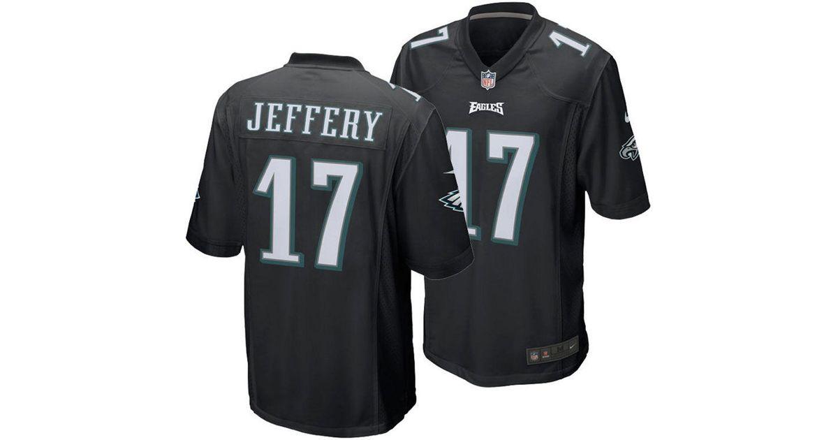 buy popular 420b8 85779 Nike - Black Alshon Jeffery Philadelphia Eagles Game Jersey for Men - Lyst