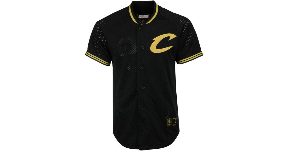 Lyst - Mitchell   Ness Men s Seasoned Pro Mesh Button Jersey in Black for  Men ada9defc3