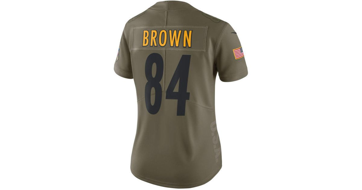 fa5b5baf Lyst - Nike Antonio Brown Pittsburgh Steelers Salute To Service ...