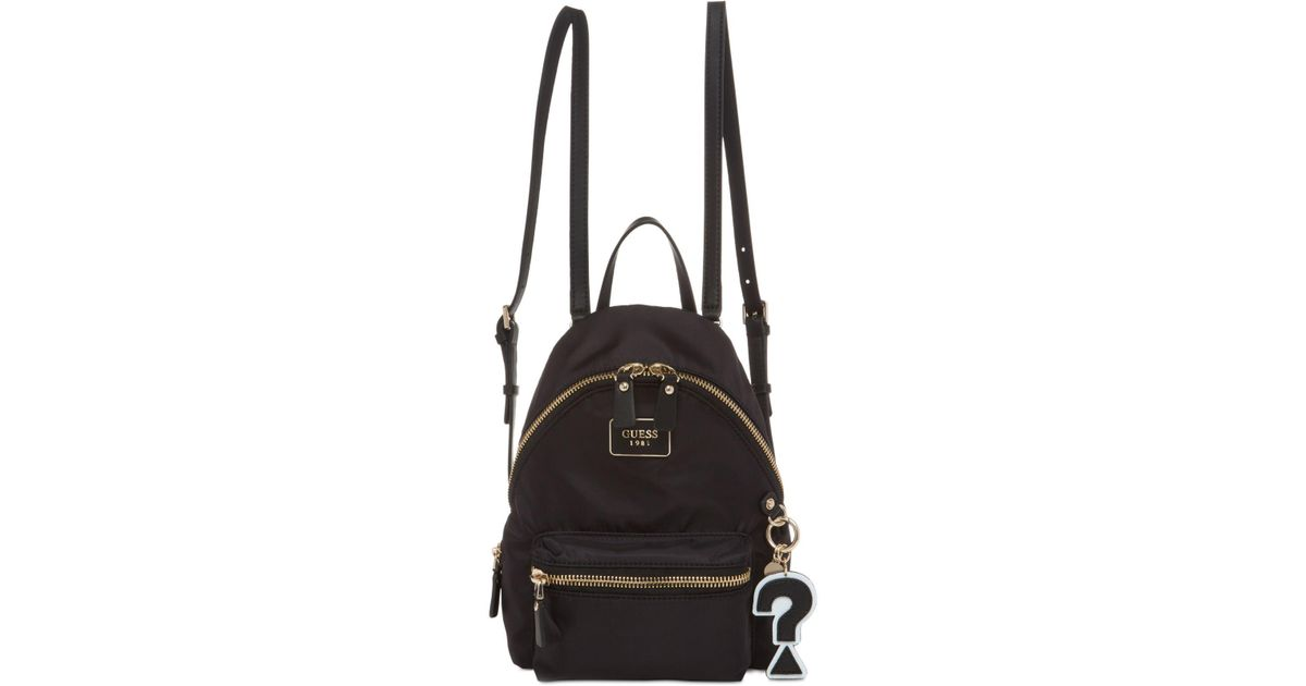 ba343c6819 Lyst - Guess Cool School Small Leeza Backpack in Black