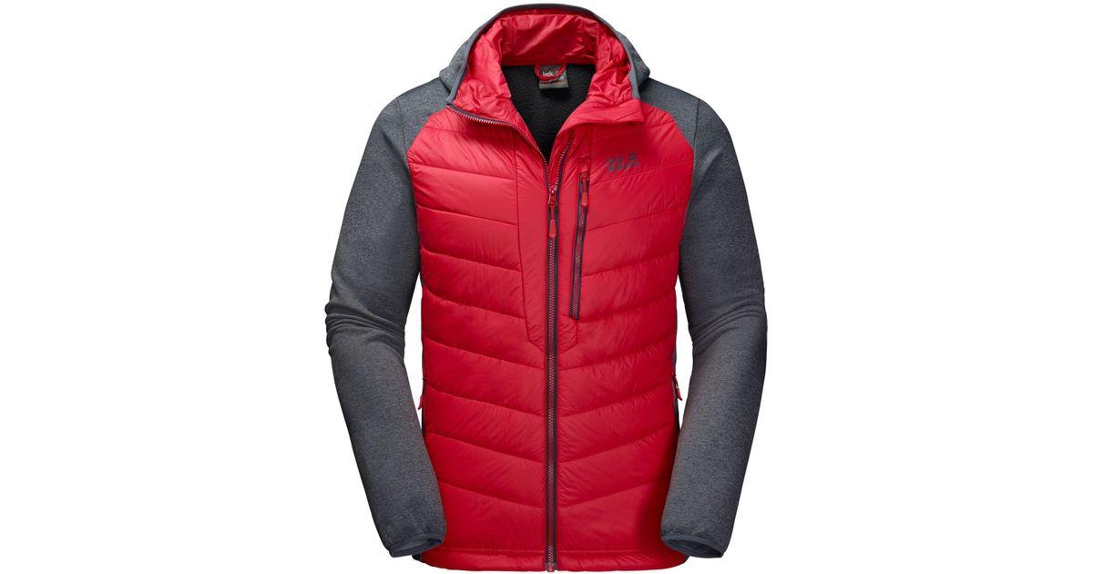 cc36e902000 Lyst - Jack Wolfskin Skyland Crossing Hooded Full-zip Jacket From Eastern  Mountain Sports in Red for Men