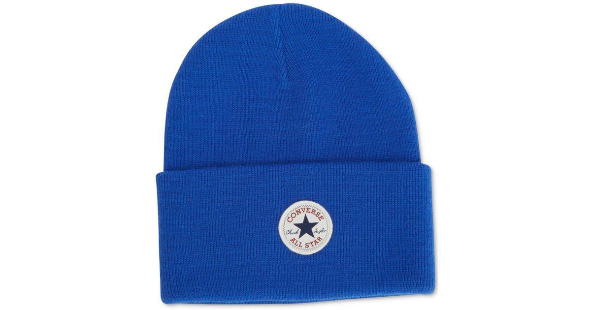 d9ea1164437 Lyst - Converse Men s Tall-cuff Beanie in Blue for Men