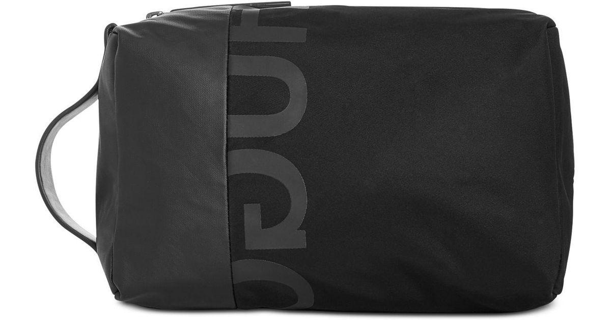 ff6ec64080 BOSS Tech Logo Washbag in Black for Men - Lyst