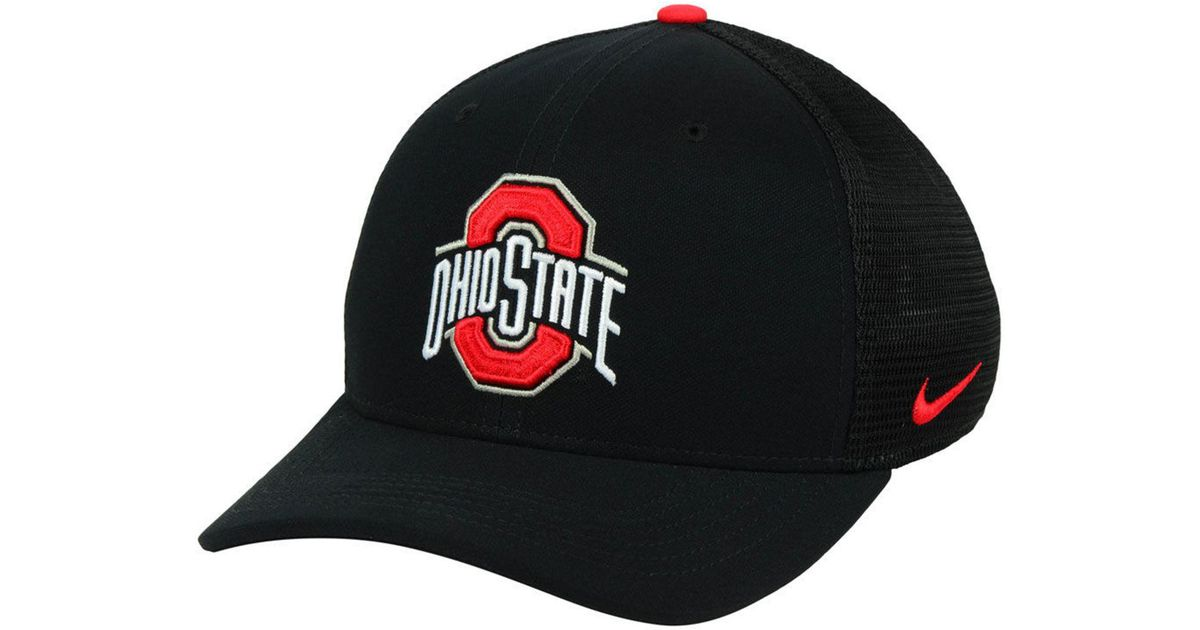 46a9348bc45 Lyst - Nike Ohio State Buckeyes Aerobill Swoosh Cap in Black for Men